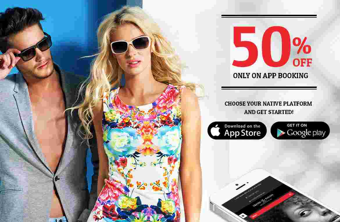 50% OFF only on App Booking
